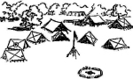 padrões de acampamento